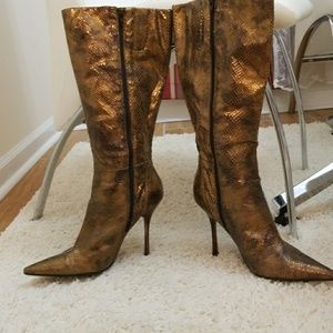 Guess by Marciano Copper Snake Skinned Boots